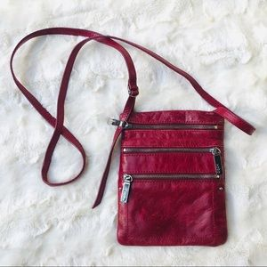 Hobo • Small Wine Red Leather Crossbody